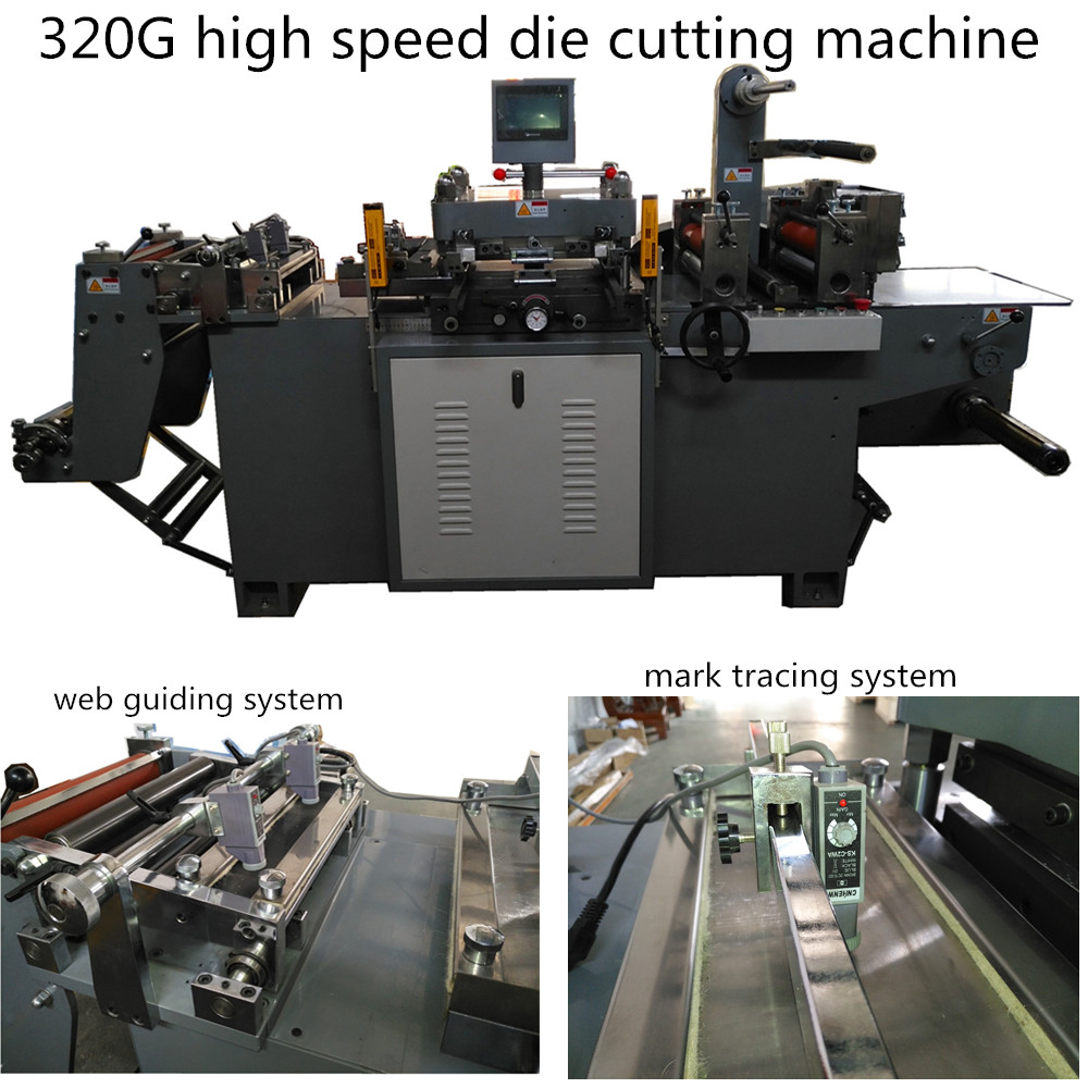 automatic high speed die cutting machine for printed label/PVC/Paper/PET